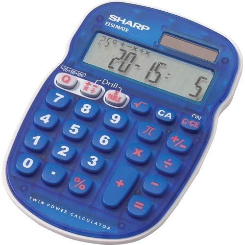 (Sharp ELS25 Quiz Calculator - 10 Character(s) - LCD - Battery/Solar Powered)