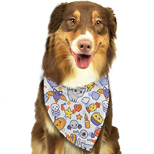 CZSJzd Cute Halloween Cat Cake Candy Fashion Dog Bandana Pet Accessories Easy Wash Scarf