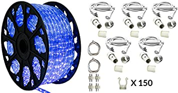 Amazon 150 outdoor rated led rope light kit 120v ul 150 outdoor rated led rope light kit 120v ul listed blue aloadofball Image collections