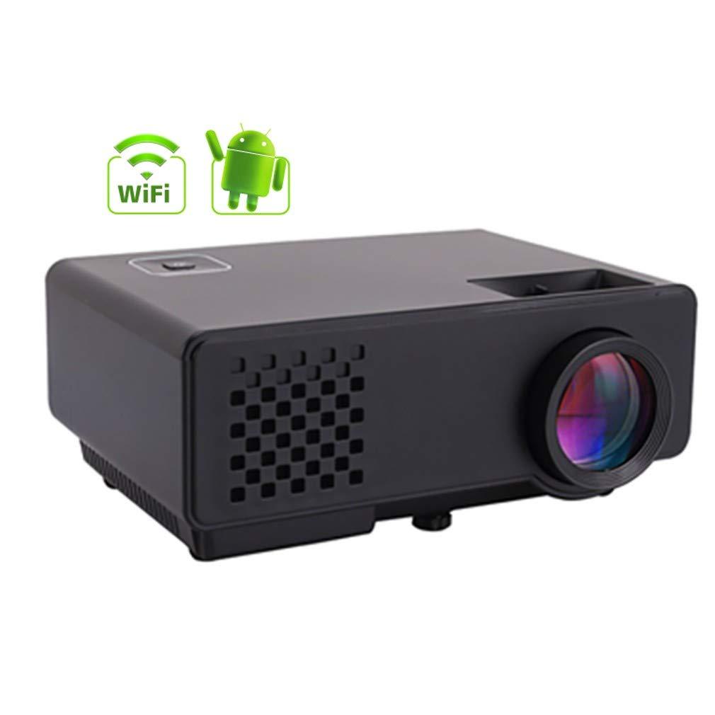 Androidプロジェクター、ミニポータブルプロジェクター、1080 P、LED、HD、3D、Wifi、ステレオサウンド、同じ画面での共有,スマートホームシアター、 B07T1PYSKZ
