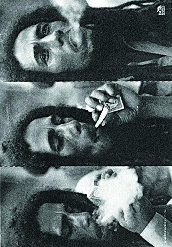 (Bob Marley - Triple Smoke Fabric Poster Flag)