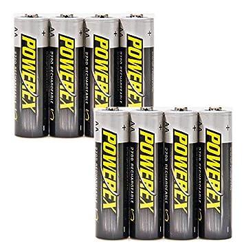 ELV Powerex-NiMH-batería, Mignon AA 2700 mAh, 8 Pack
