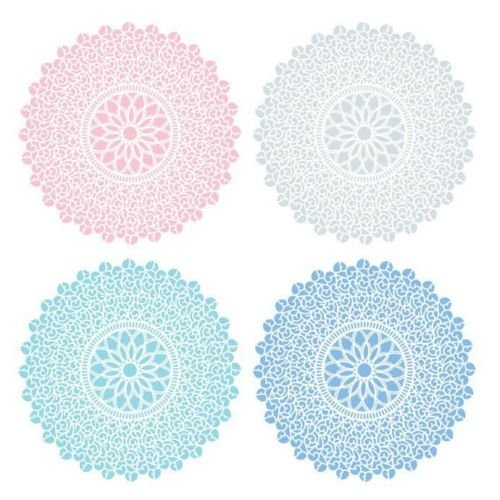 Pacific Merchants Pastel Tones 6.25'' Plateful Parchment Doily - 20ct by Pacific Merchants Trading