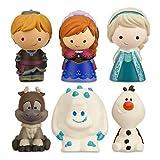 Disney Frozen 6 Pc. Bath Tub Pool Toy Set Olaf Elsa Anna Sven Kristoff Marshmallow