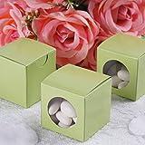 Efavormart 2x2 Sage Green Ballotin Box-100 Boxes