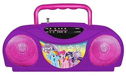 My Little Pony Radio Karaoke Kits, 13357 Little Star Music Player, Portable  radio FM/AM radio, Includes a corded microphone & Adds a retro feel,