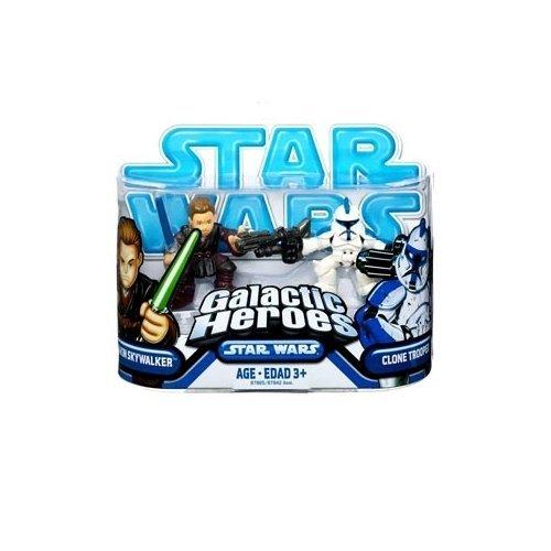 Game Wars Heroes Galactic (Star Wars: Clone Wars Galactic Heroes Anakin Skywalker & Clone Trooper Action Figure 2-Pack)