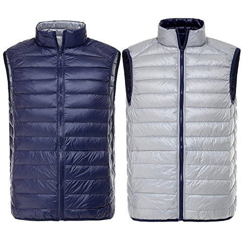 Solid Double Laterale Navy Wear grigio Gi¨´ Vest Inverno Uomo Hibote wXqZSATaZ