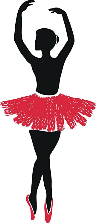 Amazon Com Beautiful Ballerina Dancer Cartoon Silhouette Vinyl Sticker 12 Tall Fifth Position Automotive