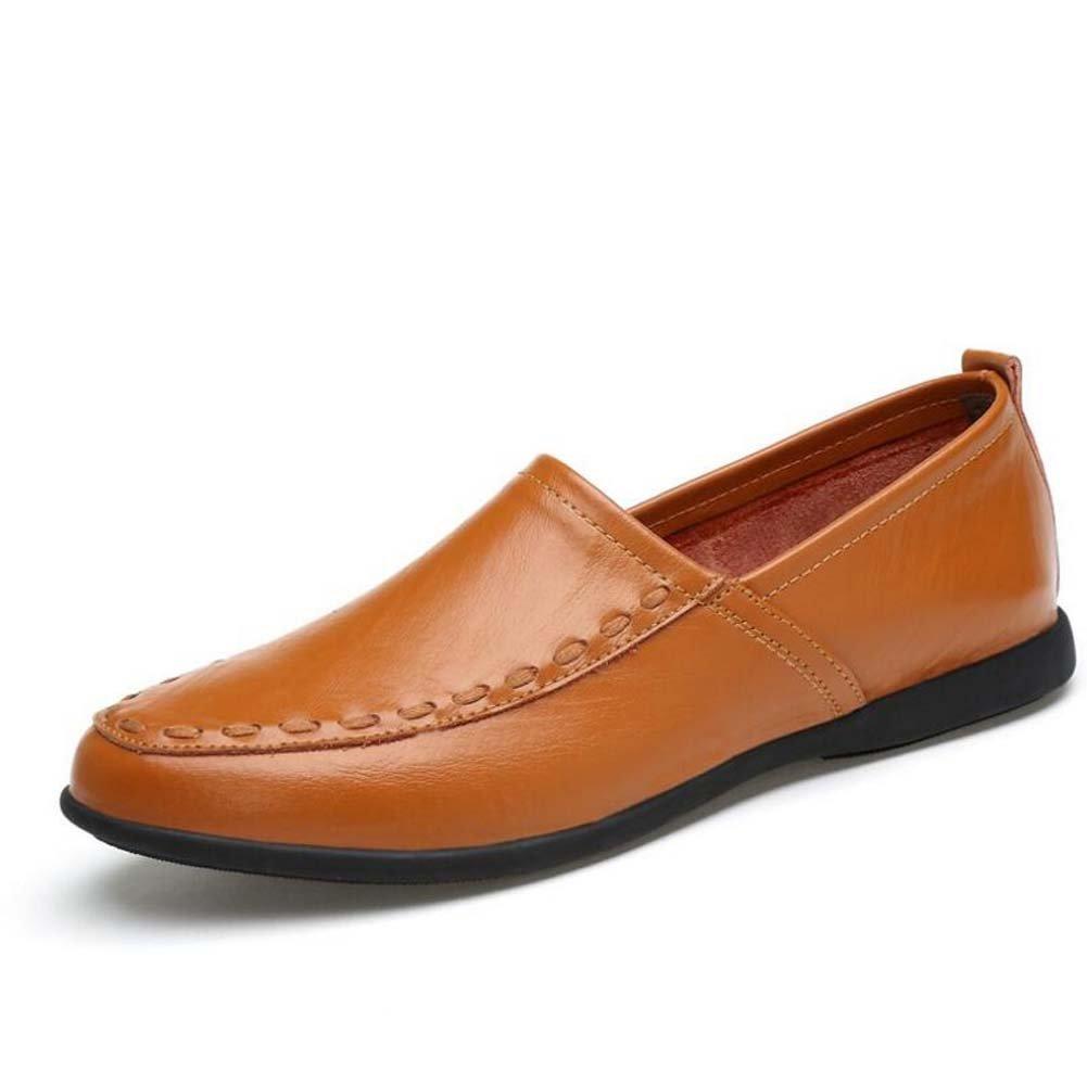 GLSHI Herren Erbsen Schuhe Schuhe Füße Weichen Boden Handgemachte Schuhe Sommer Große Größe