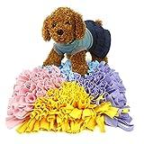 "Pidsen Dog Snuffle Mat Training Feeding Mat Play Mat Relieve Stress Restlessness 17""x17"" (Triangle Multicolor)"