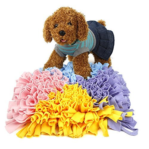 Triangle Multicolor Pidsen Dog Snuffle Mat Training Feeding Mat Play Mat Relieve Stress Restlessness 17 x17  (Triangle Multicolor)