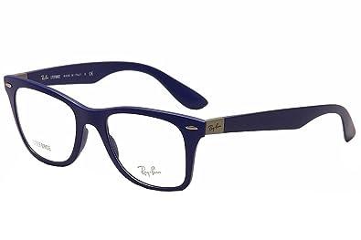 54e2bcae8e2f Amazon.com  RAY BAN Eyeglasses RX 7034 5439 Matte Dark Blue 50MM  Shoes