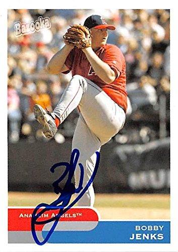 Bobby Jenks autographed baseball card (Anaheim Angels) 2004 Topps Bazooka #246 - Baseball Slabbed Autographed Cards