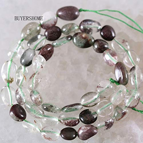Calvas 6x7-8x11MM Natural Stone Non-magnteic Hematite Green Peridot Olivine Crystal Quartz Lapis Red Garnet Loose Beads String 16