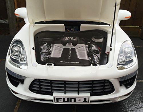 Jeep para niños Porsche Cayenne Sport Style 12 V eléctrico / batería para coche 4 x 4 - blanco (Producto con enchufe de UK): Amazon.es: Juguetes y juegos