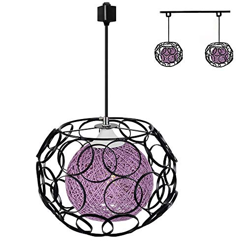 Purple Drum Pendant Light