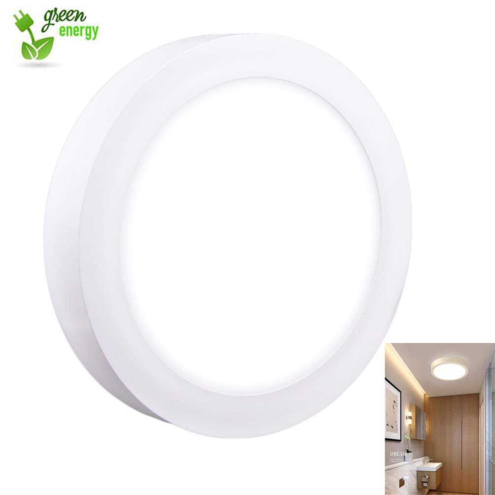 Surface Mount Led Ceiling Light-18W Round Flat LED Ceiling Lighting,6000K,Cool White for Kitchen ,Closet,Garage,Hallway,1440lm,Not-Dimmable(120 watt halogen bulb Equivalent)