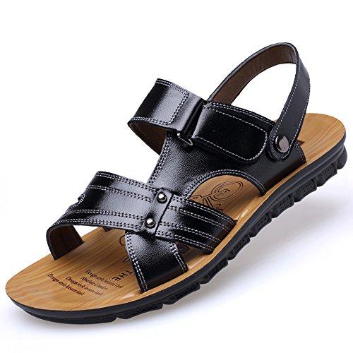 uomo e chiuso 3 pelle tempo il Qingqing EU per chiusi 40 sudore da per libero al open Size da Sandali Sandali uomo 2 in adatti toe scarpe casual assorbenti all'aperto wZx6wq1