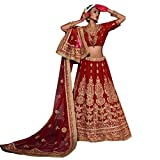 INDIAN BOLLYWOOD PARTY WEAR BRIDAL WEDDING LEHENGA CHOLI DRESS MATERIAL DUPATTA _4580