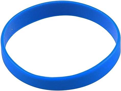 Blanco Pulsera De Silicona Pulseras de goma, azul: Amazon.es: Deportes y aire libre