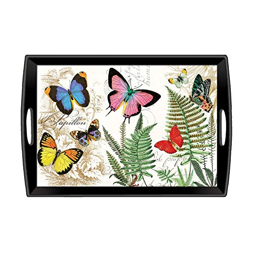 (Michel Design Works Large Decoupage Wooden Tray, Papillon)