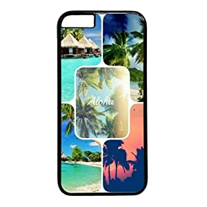 "Beach Palm Tree Photo Wall Theme Case for iPhone 6 Plus (5.5"") PC Material Black in GUO Shop"