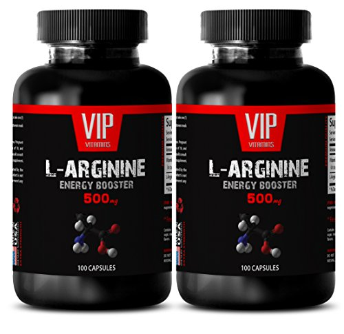 Male enhancing pills increase size and length - L-ARGININE 500 Mg - Arginine amino acid - 2 Bottles 200 Capsules by VIP Supplements