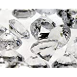 "Acrylic Crystal Diamond Confetti Table Scatter 3/4"" 1 lb. Bag Clear"