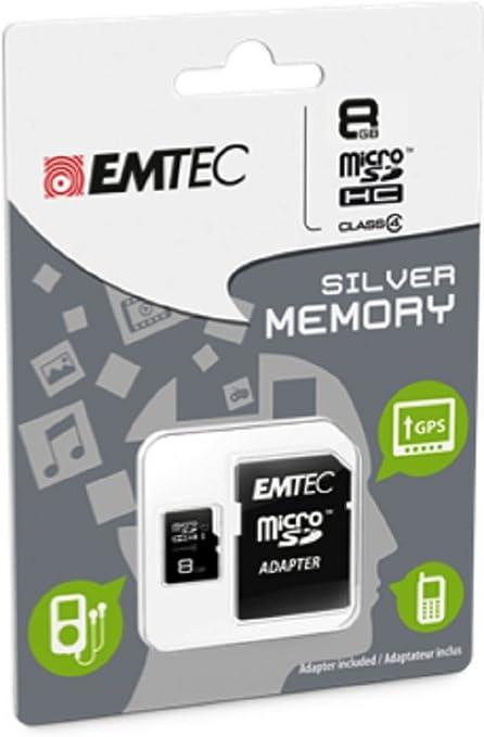 Amazon.com: Emtec 8 GB Clase 4 Mini Jumbo Super MicroSDHC ...