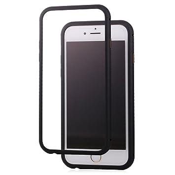 bandmax iPhone 6/6S Funda Magnética Bodyguard Edge Antiarañazos Aluminio Bumper Duro Carcasa Protectora para iPhone 6/6S (Negro)