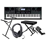 : Casio WK7600 Workstation Keyboard w/ Bench, Stand, Sustain Pedal, and Headphones