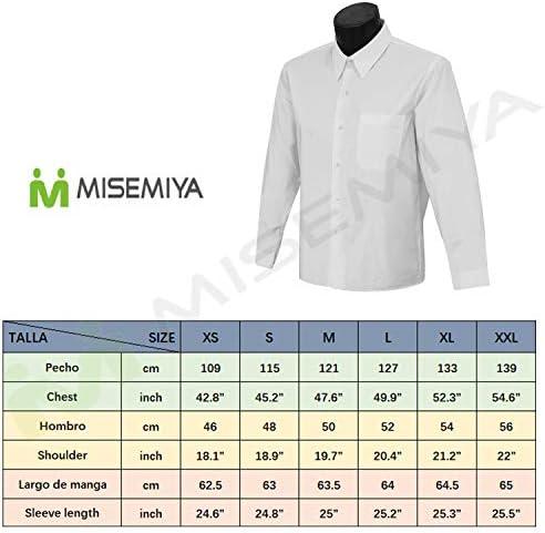 MISEMIYA - Camisa Uniforme Camarero Caballero Mangas LARGAS MESERO DEPENDIENTE Barman COCTELERO PROMOTRORES CAFETERIAS- Ref.834: Amazon.es: Ropa y accesorios