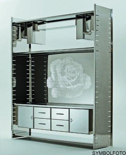 Graepel High Tech italienisches H2 Giant Regalsystem aus poliertem Edelstahl