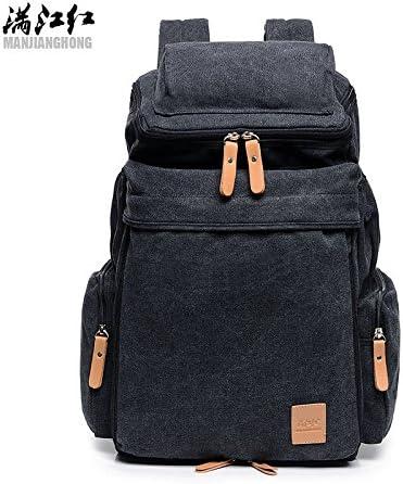 KEROUSIDEN Classic Canvas Backpack Korea Casual Backpack Vintage Travel Bag Schoolbag Large 301958cm Black Large