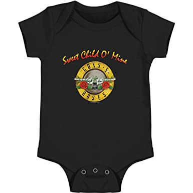 2a8dc3f5e2d7 Amazon.com: Guns N Roses Sweet Child O Mine Onesie-24MTHS: Clothing