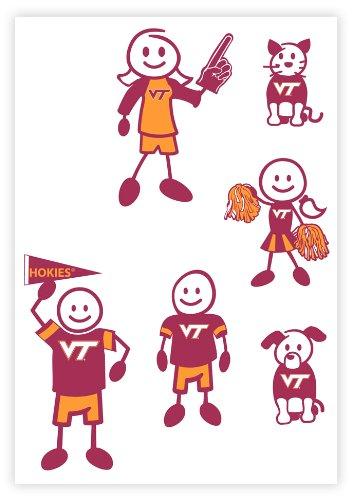 Siskiyou NCAA Virginia Tech Hokies Small Family Decal Set ()