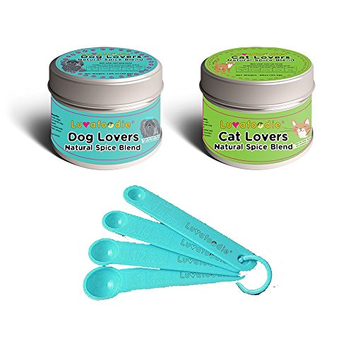 Antioxidant Collection - Luvafoodie Dog Lovers Spice Tin and Cat Lovers Spice Tin Collection with Measuring Spoons