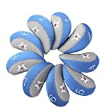 Pack of 9 Golf Iron Covers Neoprene Golf Protection Case for Callaway,Ping,Taylormade,Cobra