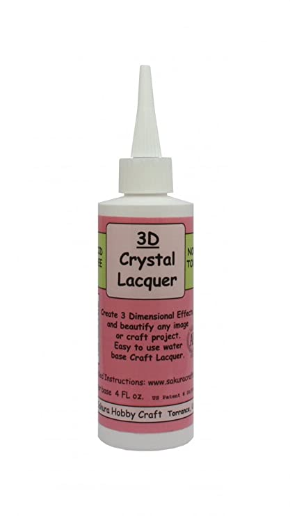 Sakura Hobby Craft Kit de relleno de barniz para cristal para principiantes con efecto 3D (