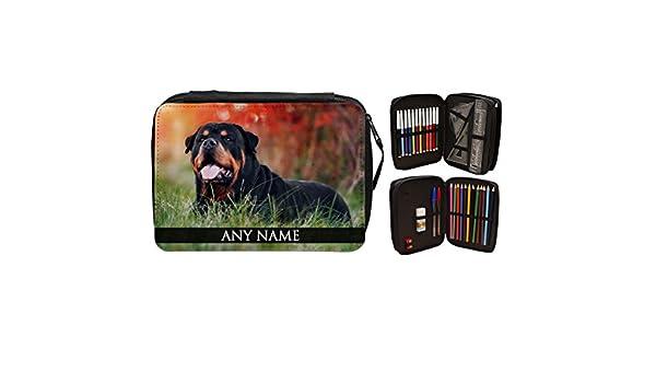 Personalizado Rottweiler perro Animal relleno estuche 258: Amazon.es ...