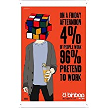 Binboa Vodka: Rubik's Cube Metal Plate Tin Sign Poster Wall Decor (20*30cm) By Jake Box