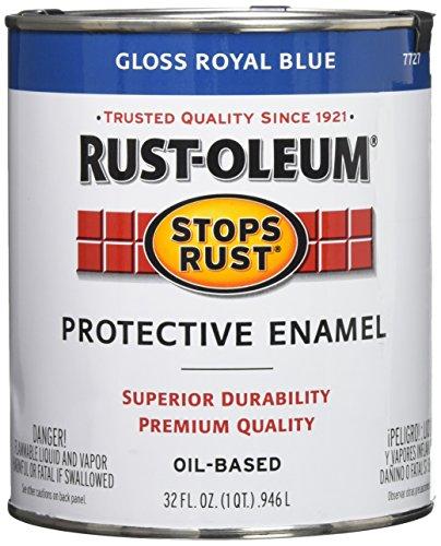 Rust-Oleum 7727502 Stops Rust, 32 oz. Quart, Gloss Royal Blue Blue 32 Ounce Quart