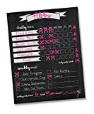 chore charts multiple - Jennakate- Chalkboard Design- Magnetic Child Behavior Reward Chore Chart-Daily Household Chore Checklist-Job Chart- Dry Erase- 11