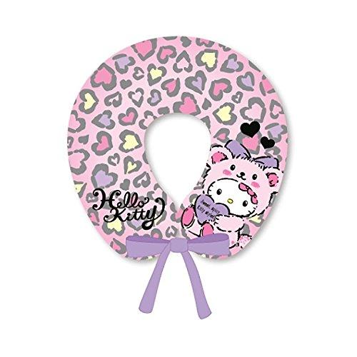 Sanrio Hello Kitty Neck Cushion Travel Pillow with Strap (PURPLE) -