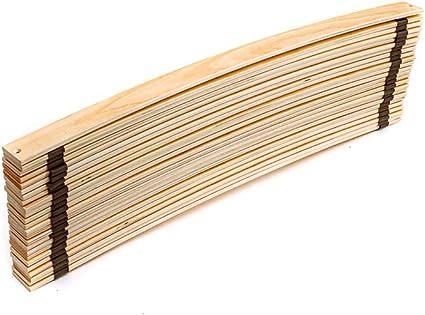 Rete a doghe di Legno di Betulla di Alta qualit/à 90 x 200 cm 90 x 200 cm Naturamio