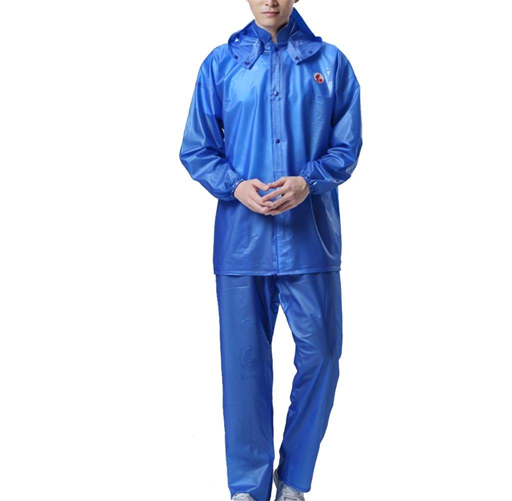newest a518f 96dc3 Raincoat PVC Sea Rubber Split Suit Rain Pants Men And Women Rain Clothes  Outdoor Ride Labor Waterproof Jacket Rain Gear