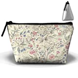 Flowers Floral Trapezoid Toiletry Bag Cosmetic Makeup Bag Accessory Case Multiple For Couple