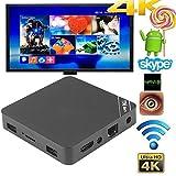 Cewaal (US Plug)4K Android 6.0 TV Box, RK3229 Quad Core 1+8GB HD 1080P WiFi Smart TV Box Support TF Card
