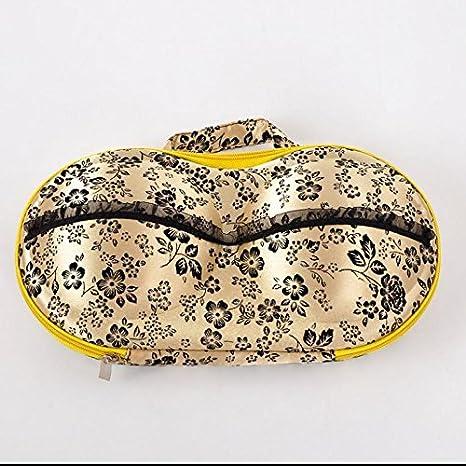 lesilverskys (TM) Nueva alta calidad portátil Plum EVA Beige sujetador ropa interior de almacenamiento Organizador Caja Braguitas sujetador Calcetines Bolsa ...